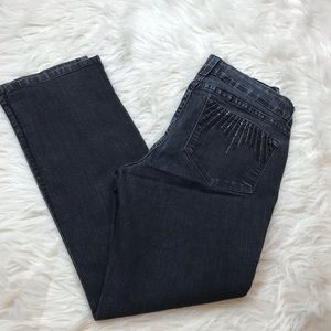 NYDJ Embellished Straight Jeans Size 8P